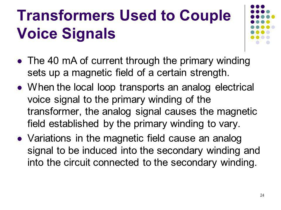 Transformers Used to Couple Voice Signals
