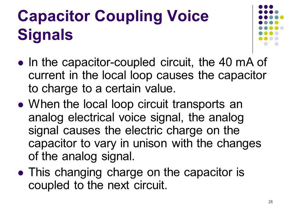 Capacitor Coupling Voice Signals