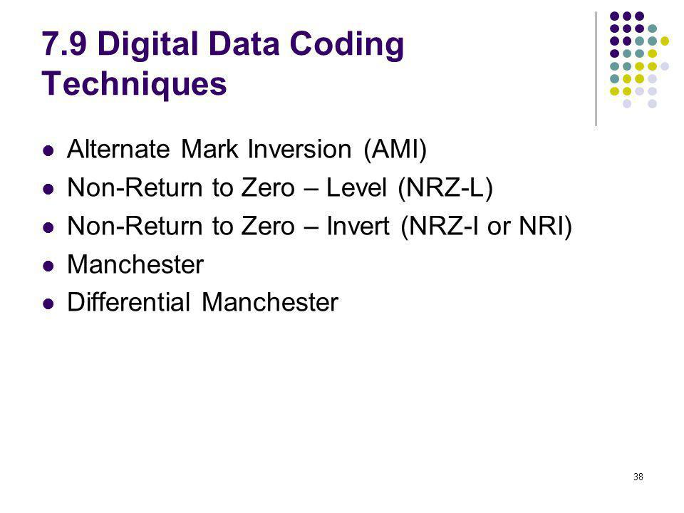 7.9 Digital Data Coding Techniques
