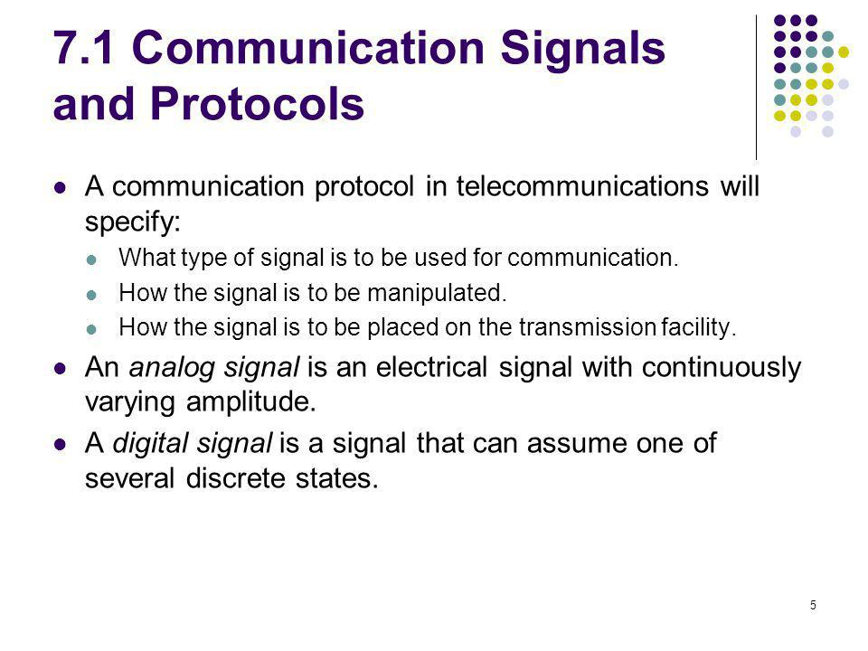 7.1 Communication Signals and Protocols