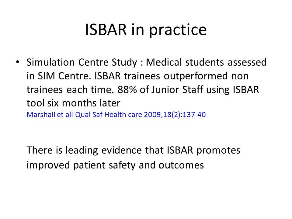 ISBAR in practice