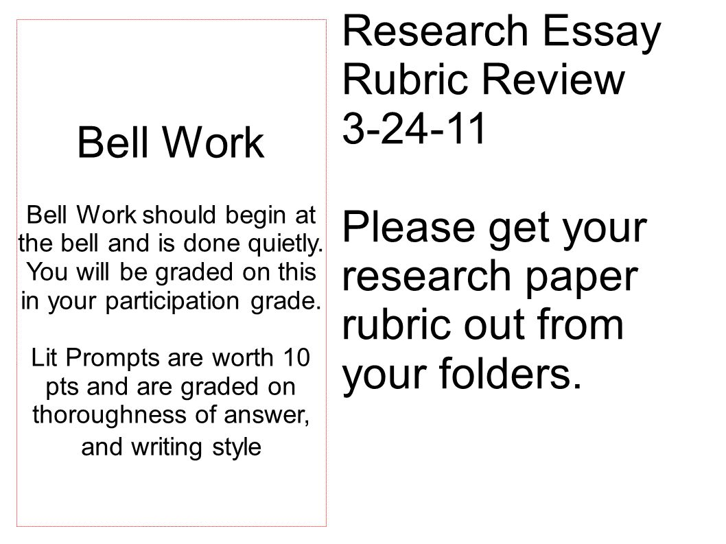 what is a rubric for a research paper Research paper scoring rubric ideas points 1–10 has a well-developed thesis that conveys a perspective on the subject poses relevant and tightly drawn questions.