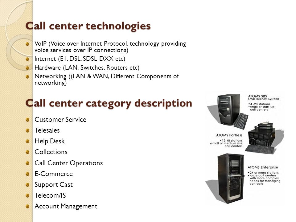Call center technologies
