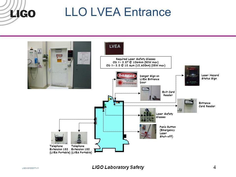 LLO LVEA Entrance LIGO Laboratory Safety