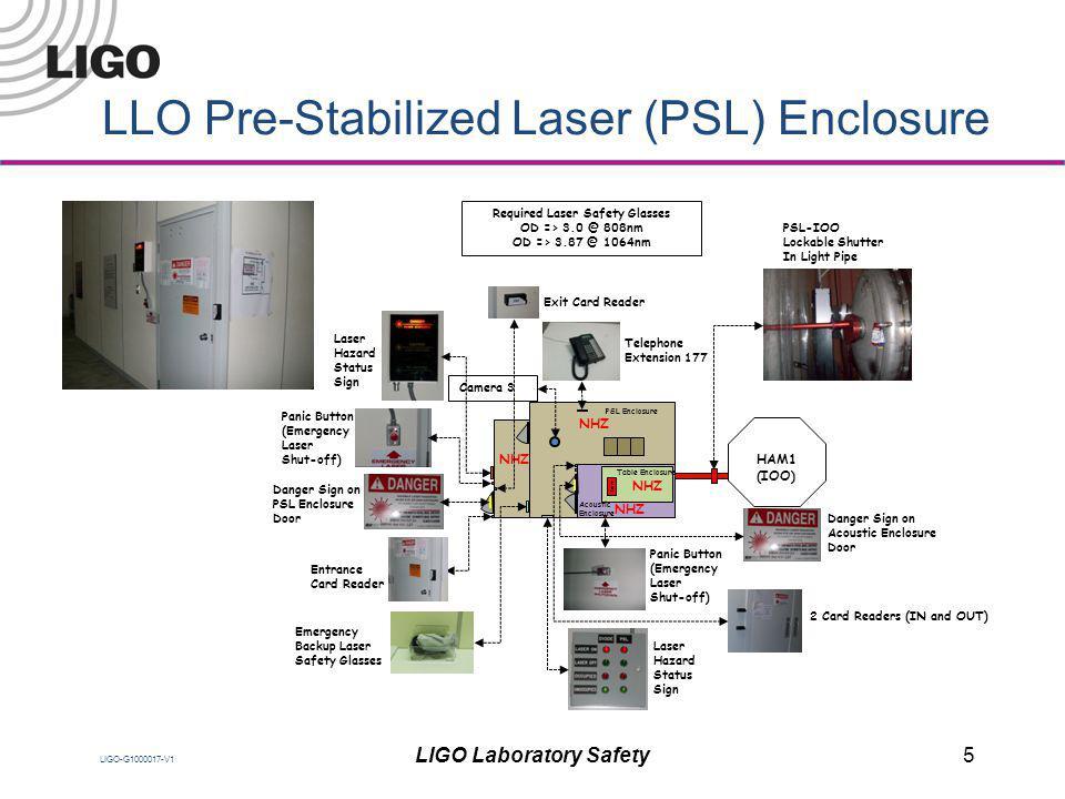 LLO Pre-Stabilized Laser (PSL) Enclosure