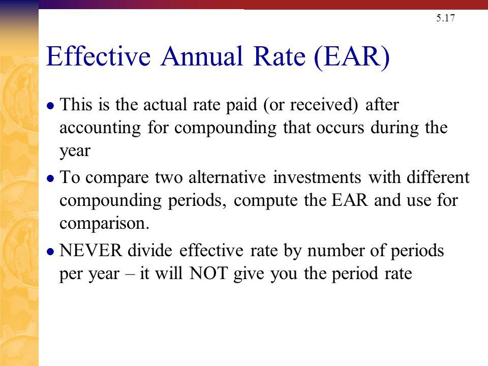 Nominal (APR) v. Effective (EAR or EFF) Interest Rates