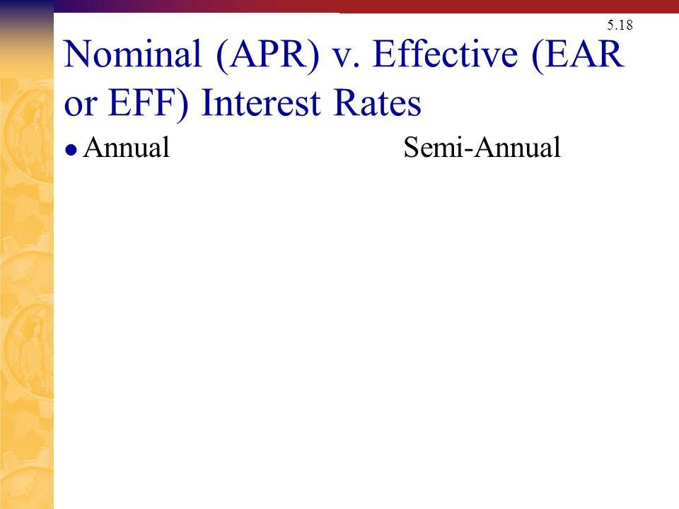 Computing APRs (Nominal Rates)