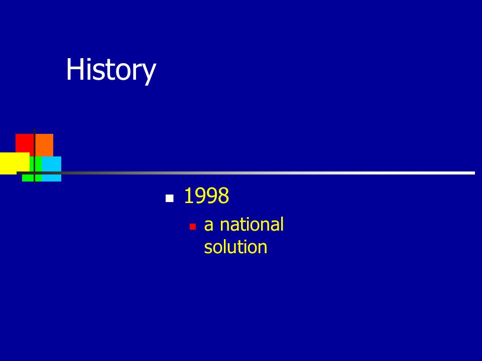 History 1998 a national solution