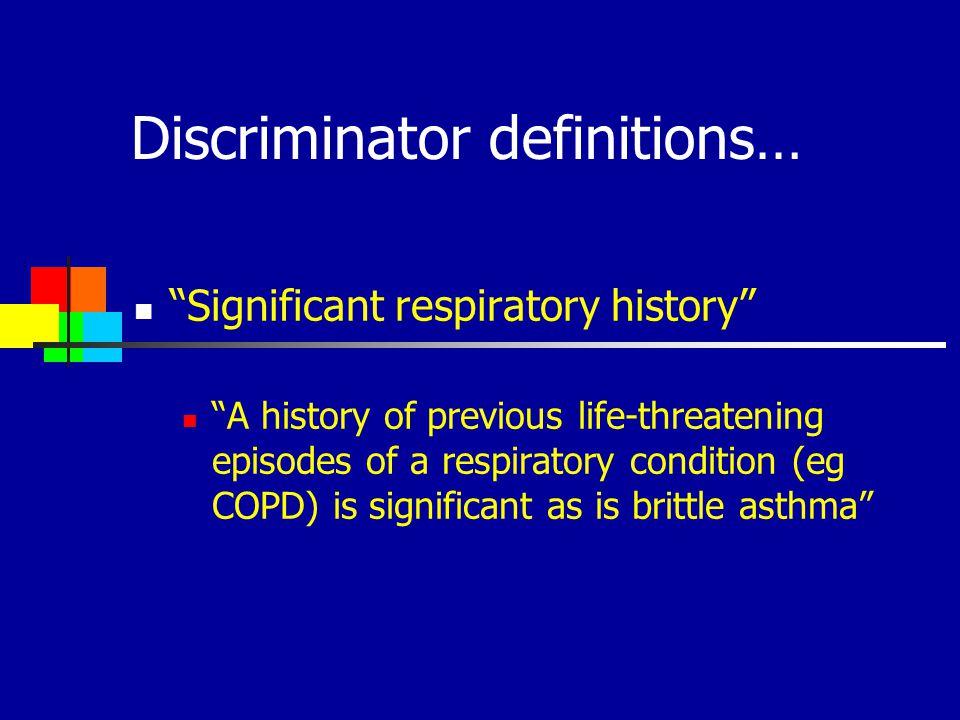 Discriminator definitions…
