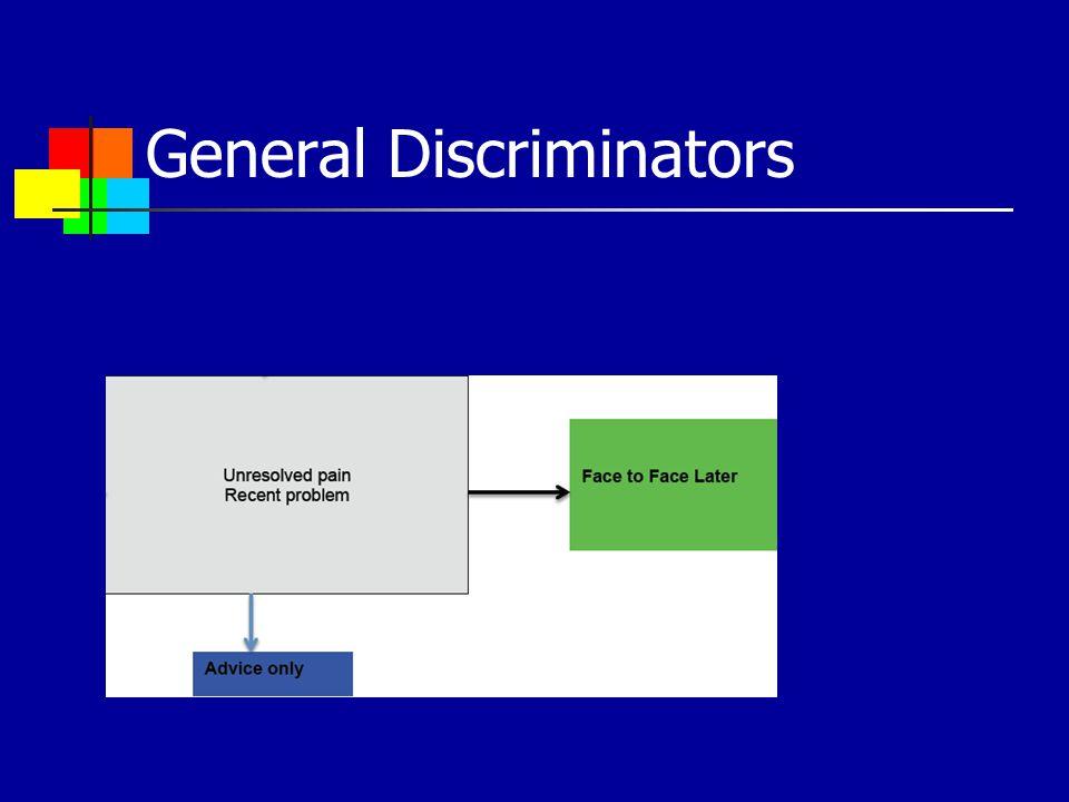 General Discriminators