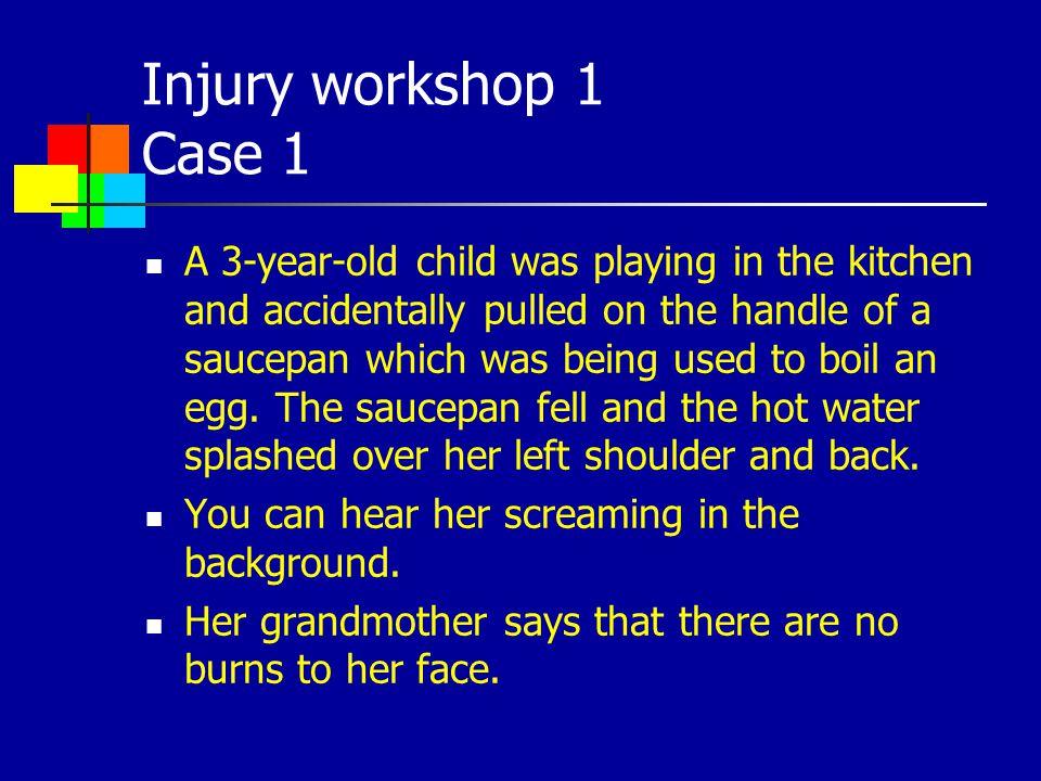 Injury workshop 1 Case 1
