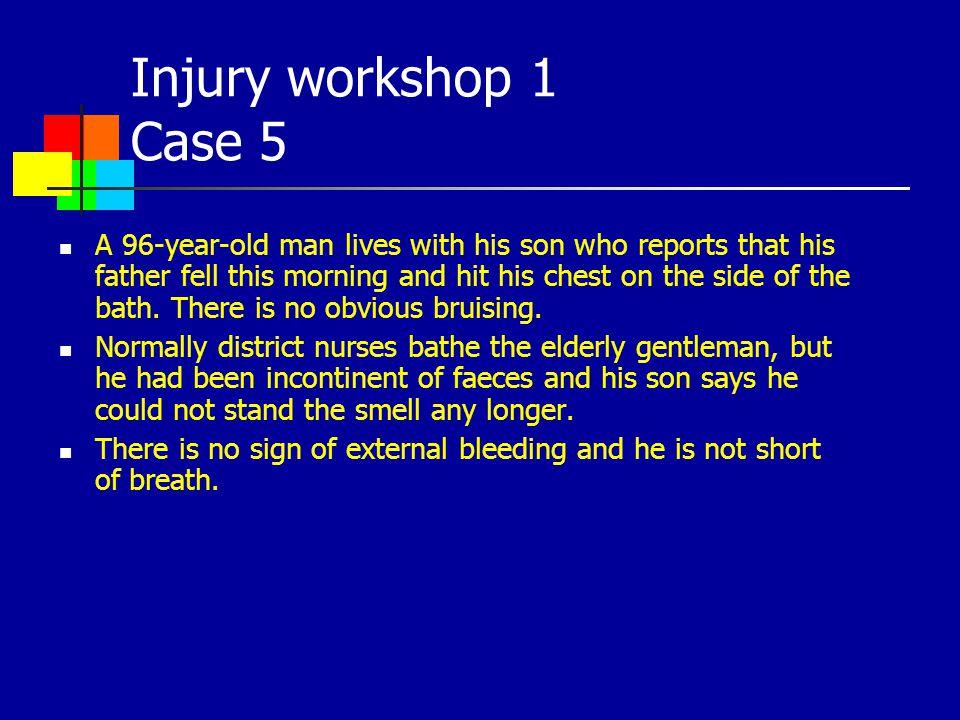 Injury workshop 1 Case 5