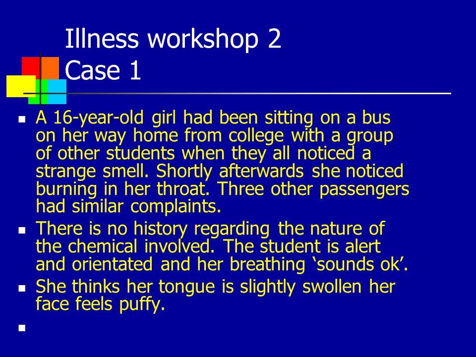Illness workshop 2 Case 1
