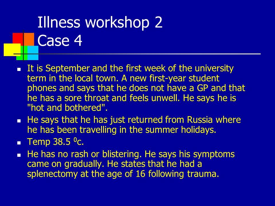 Illness workshop 2 Case 4