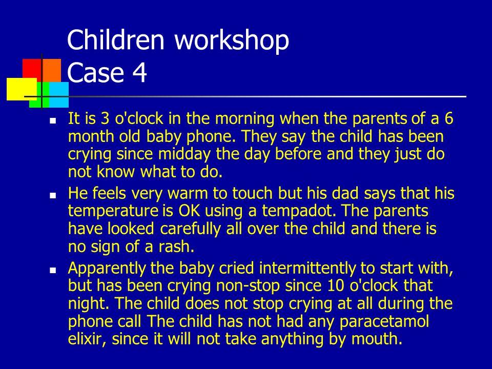 Children workshop Case 4