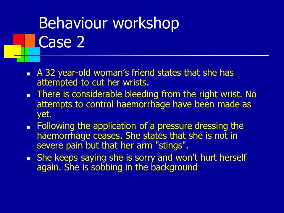 Behaviour workshop Case 2