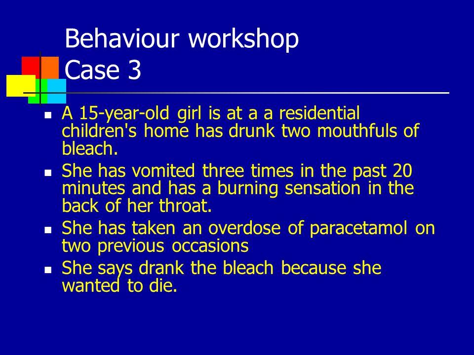 Behaviour workshop Case 3