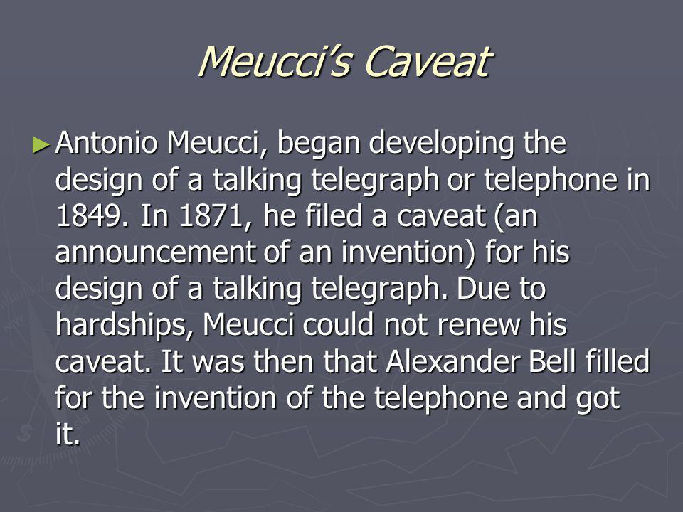 Meucci's Caveat