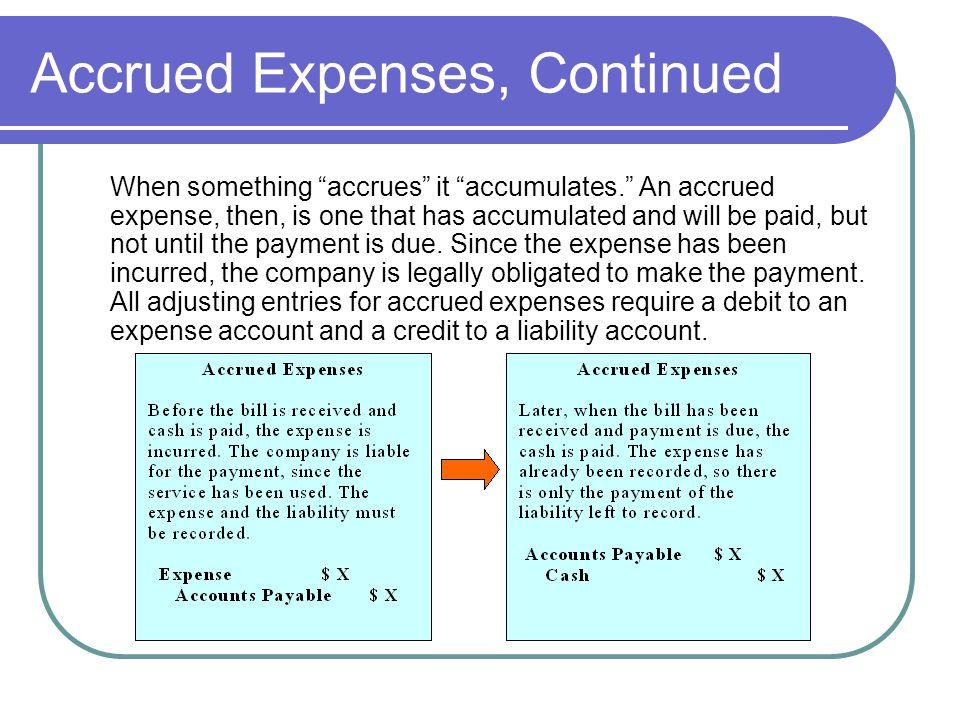 Accrued Expenses, Continued