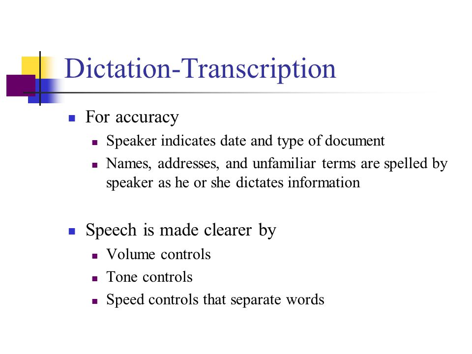 Dictation-Transcription