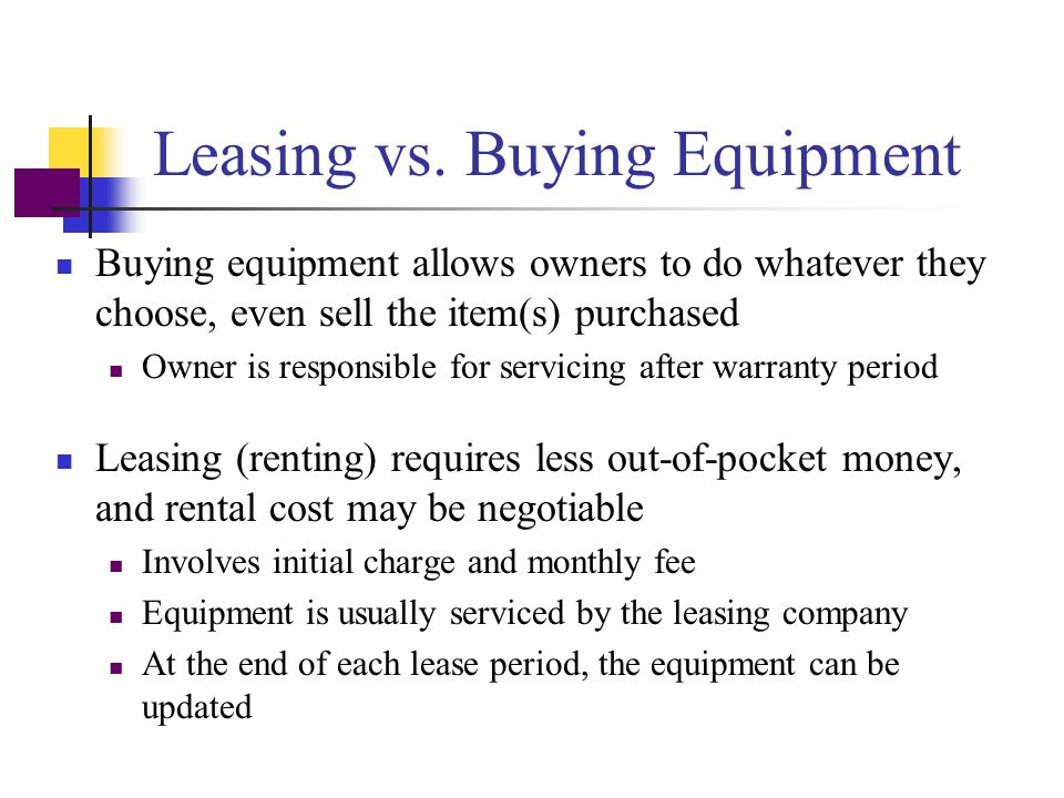 Leasing vs. Buying Equipment