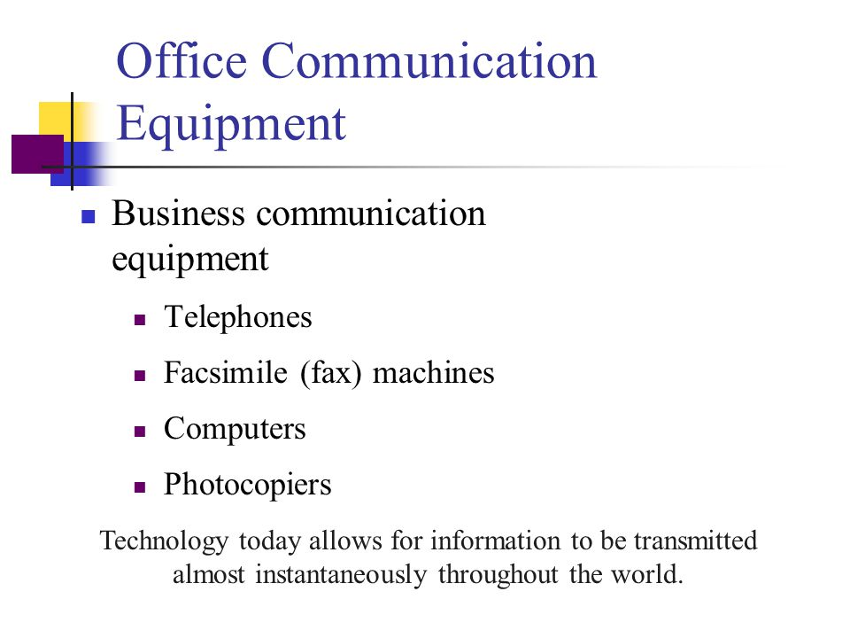 Office Communication Equipment