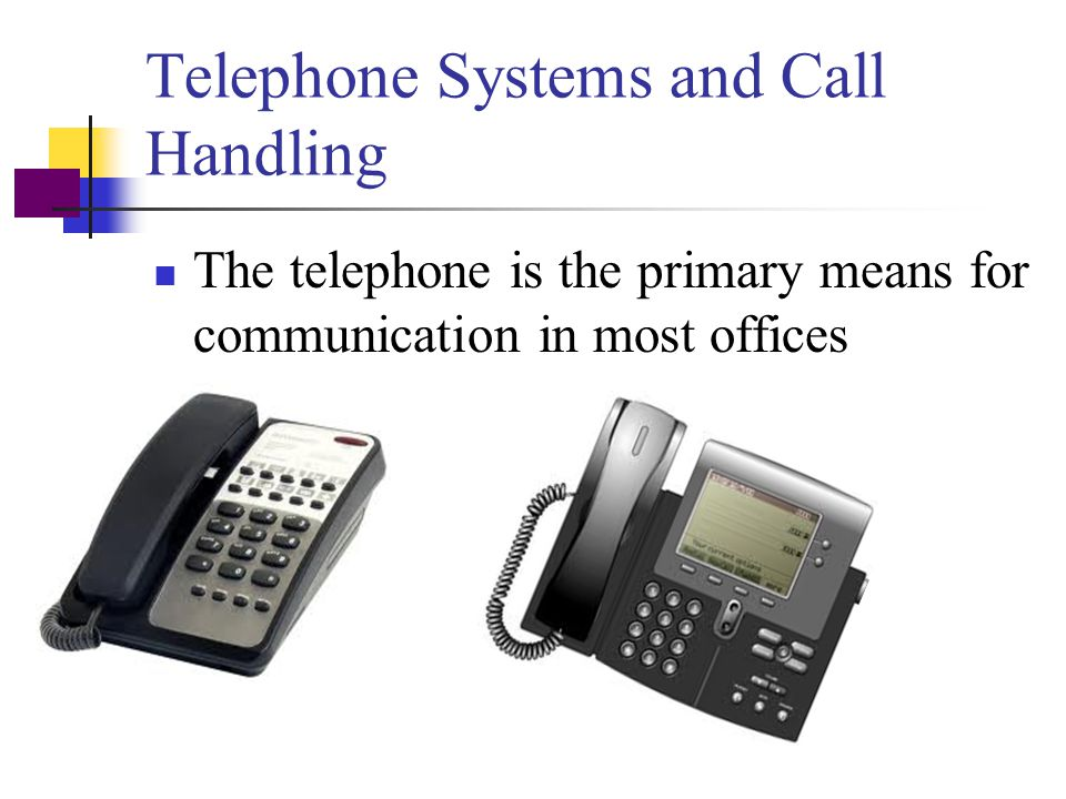 Telephone Systems and Call Handling