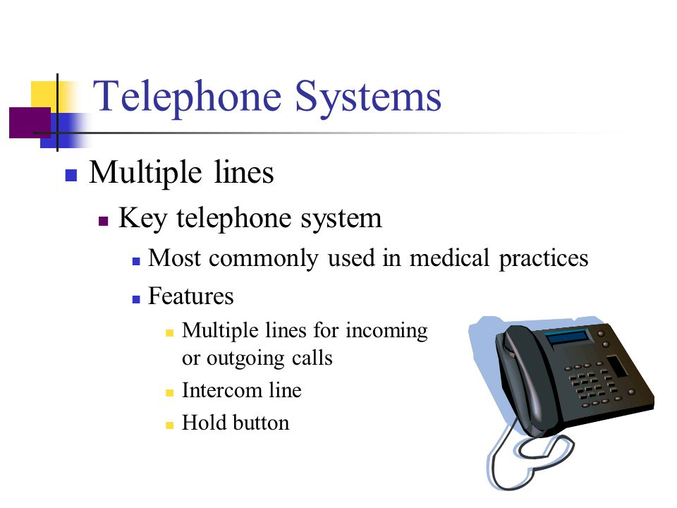 Telephone Systems Multiple lines Key telephone system