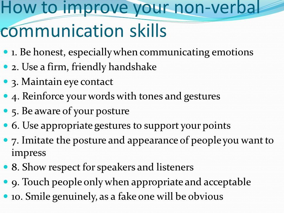 How to improve your non-verbal communication skills