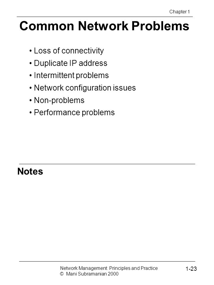 Common Network Problems