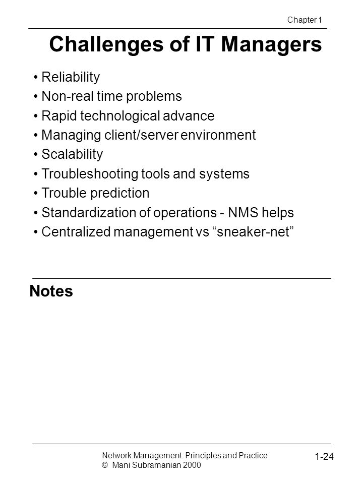 Challenges of IT Managers