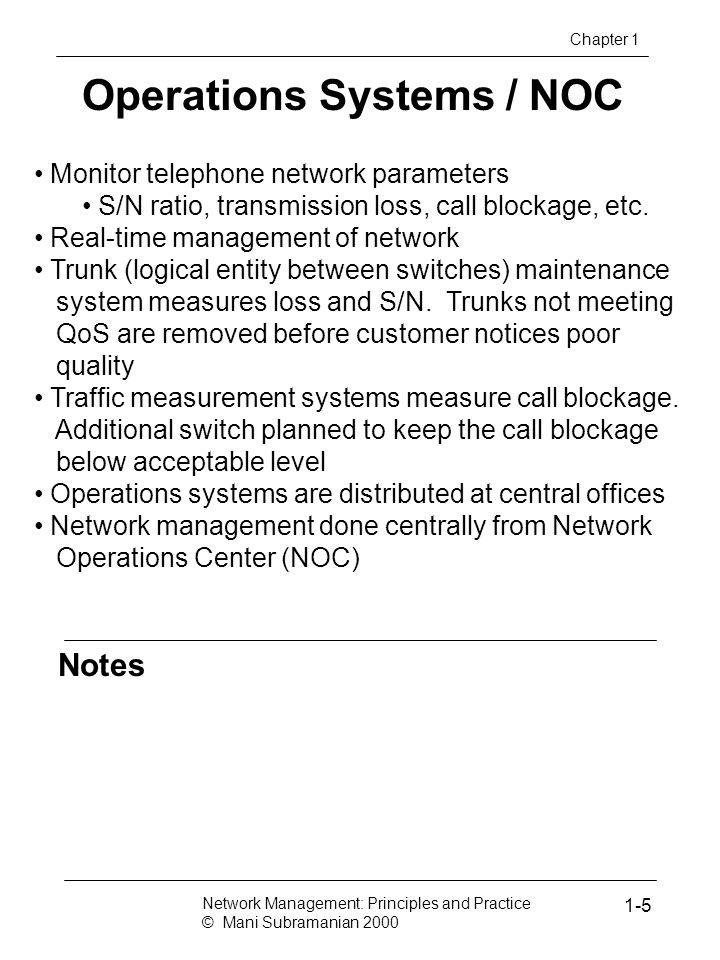 Operations Systems / NOC