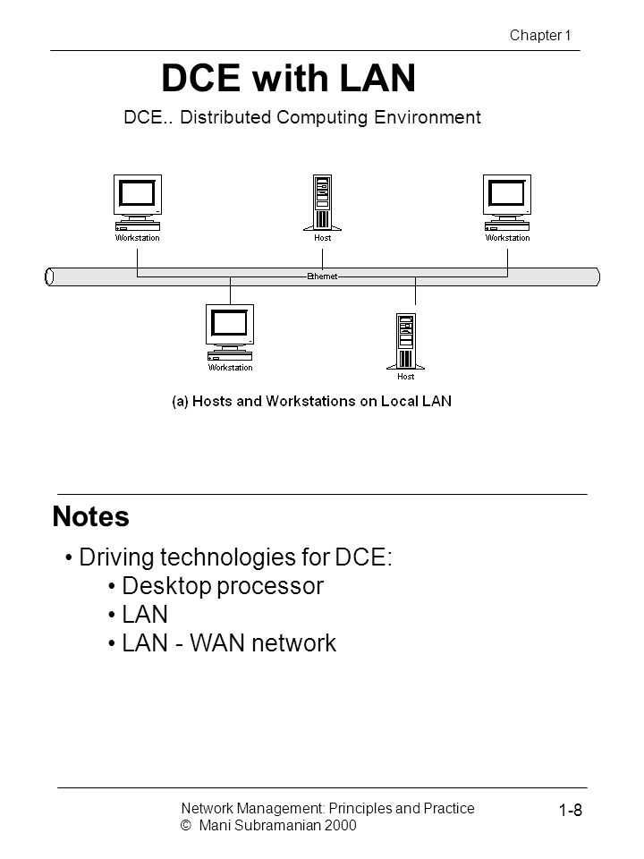 DCE with LAN Notes Driving technologies for DCE: Desktop processor LAN