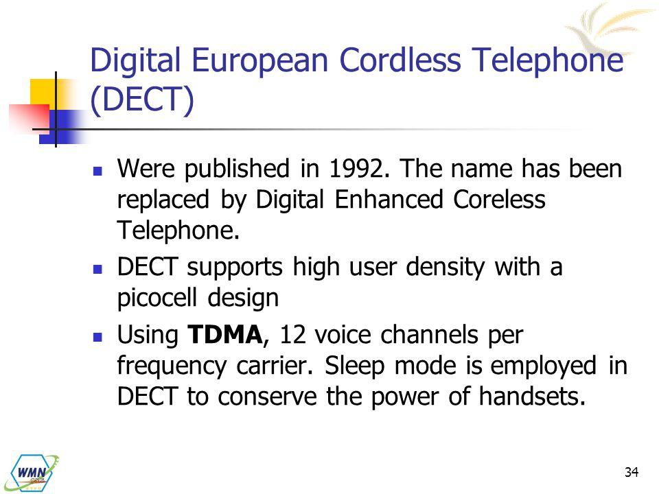 Digital European Cordless Telephone (DECT)