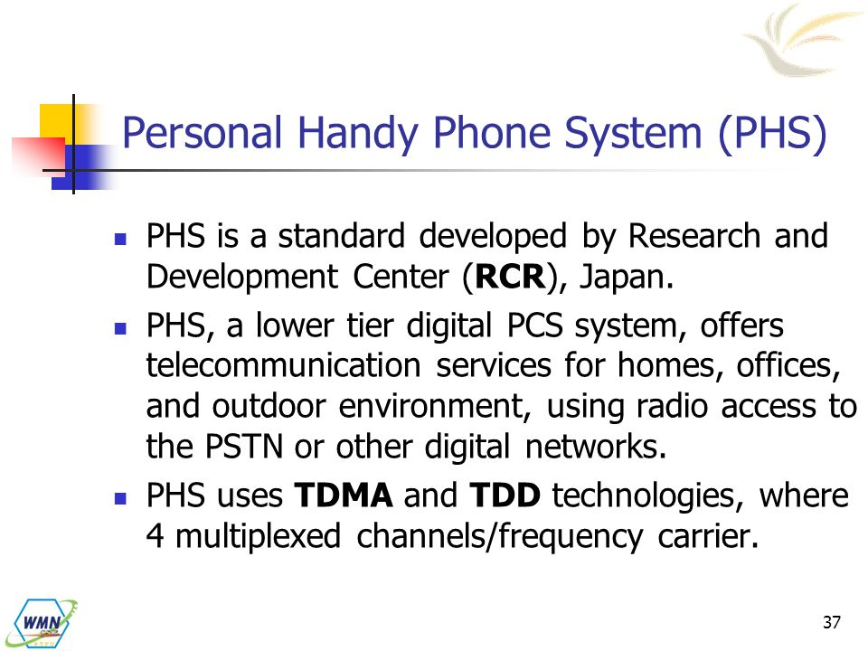 Personal Handy Phone System (PHS)