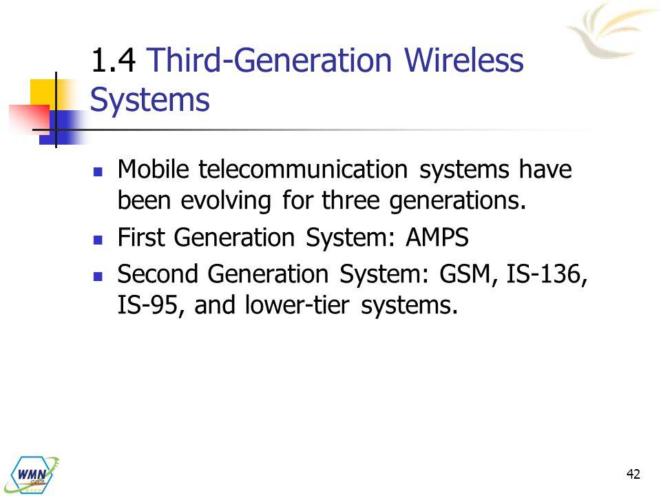 1.4 Third-Generation Wireless Systems