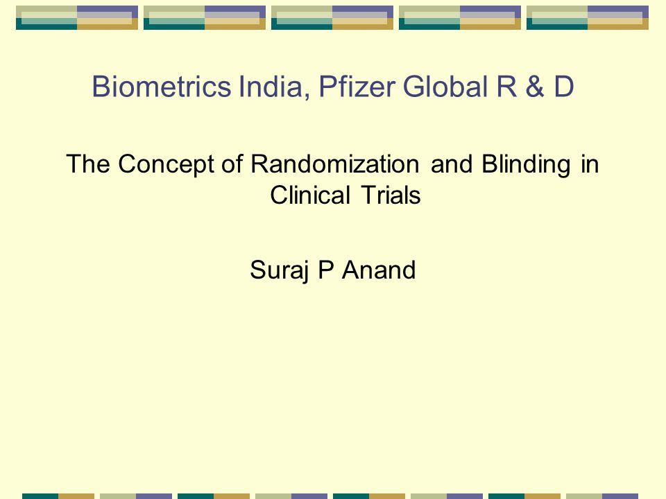 Biometrics India, Pfizer Global R & D