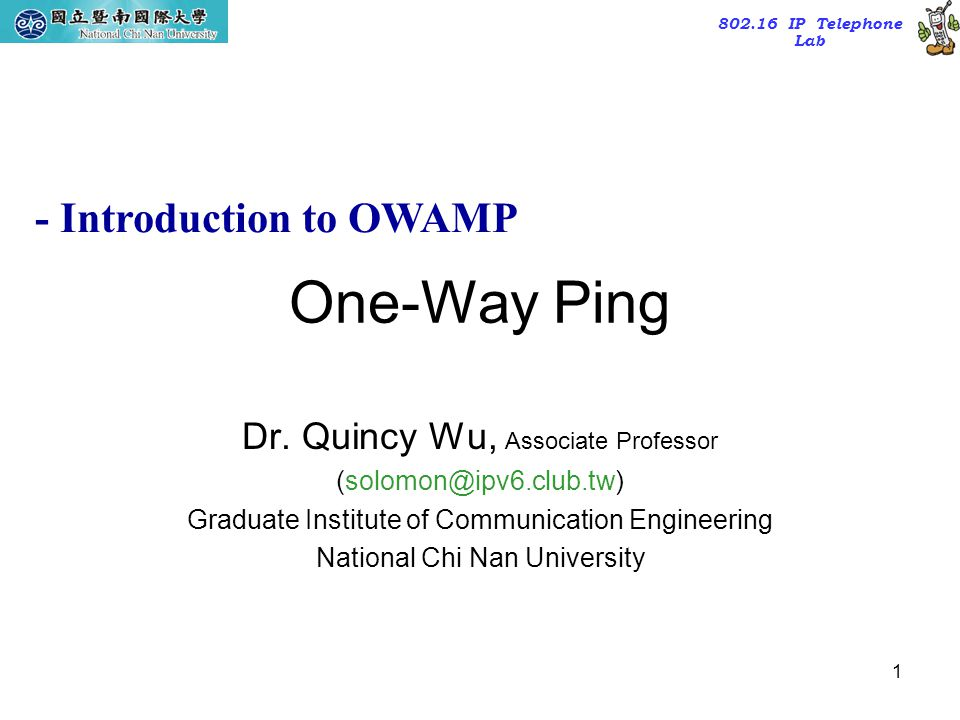 One-Way Ping - Introduction to OWAMP