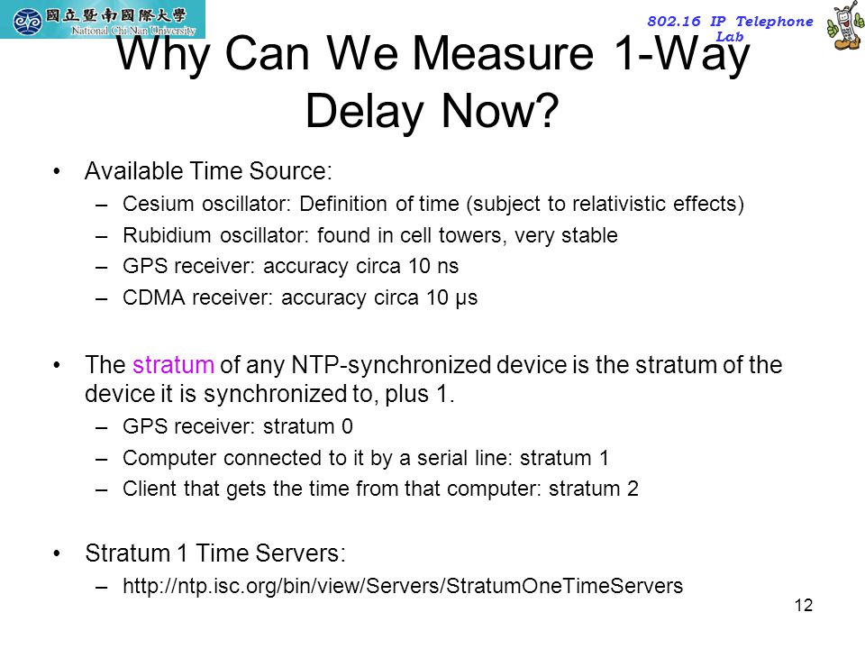 Why Can We Measure 1-Way Delay Now