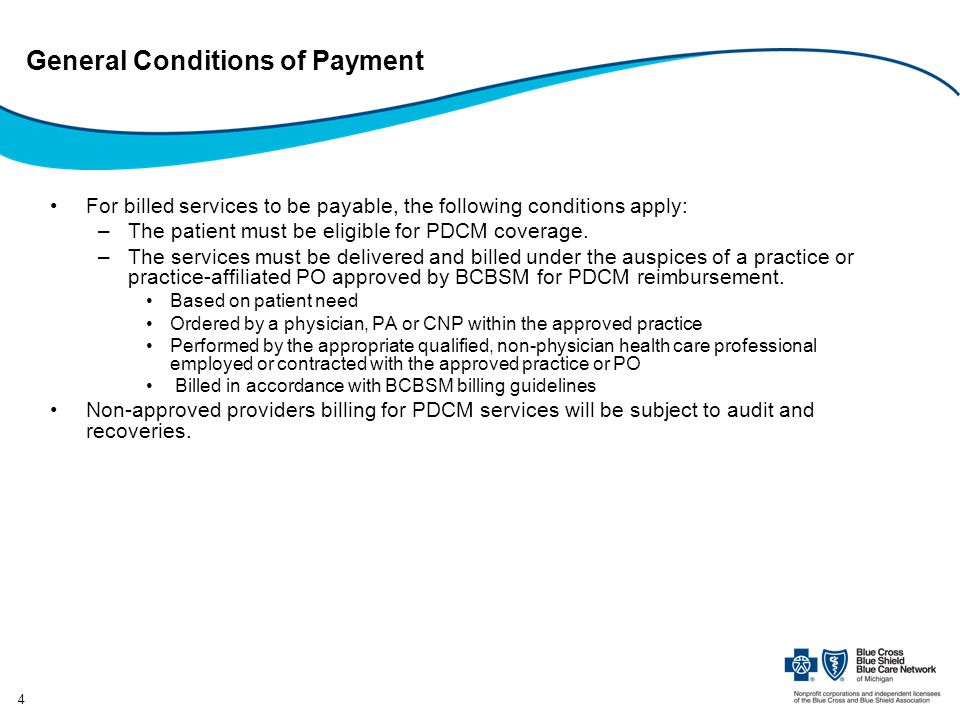 General Conditions of Payment