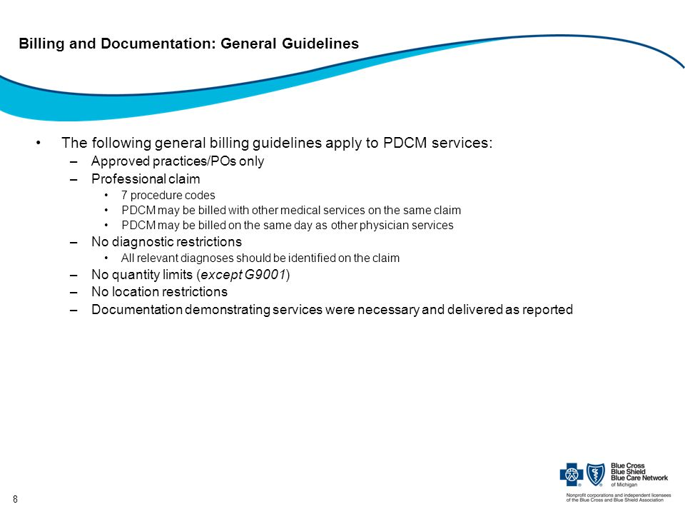 Billing and Documentation: General Guidelines