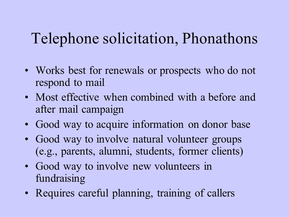 Telephone solicitation, Phonathons