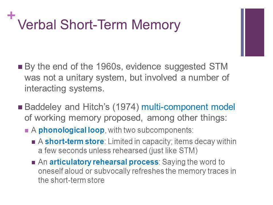 Verbal Short-Term Memory