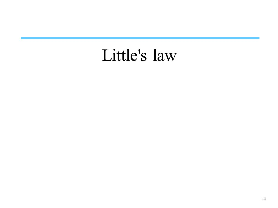 Little s law