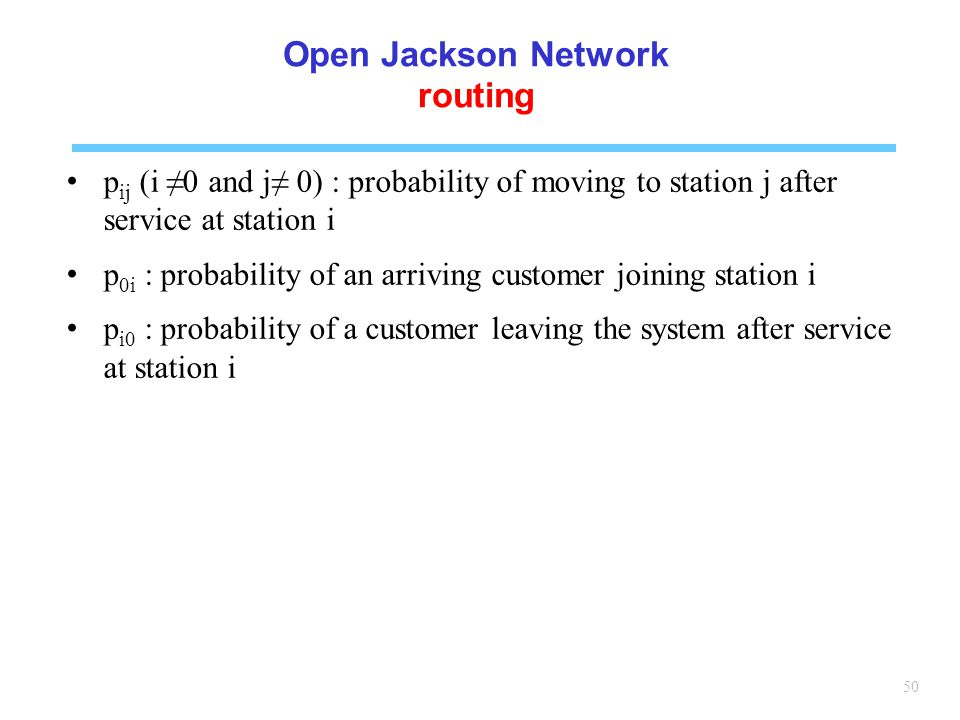 Open Jackson Network routing