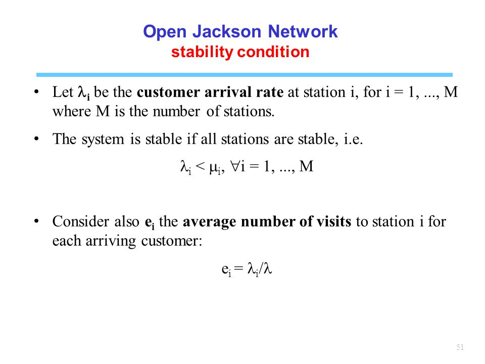 Open Jackson Network stability condition