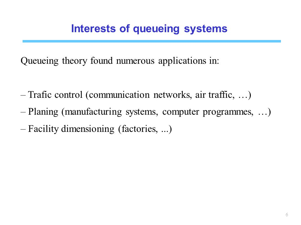 Interests of queueing systems