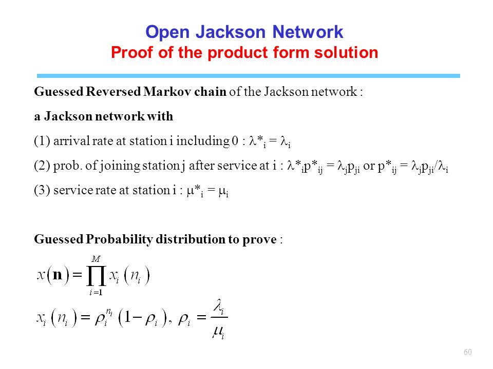 Proof of the product form solution