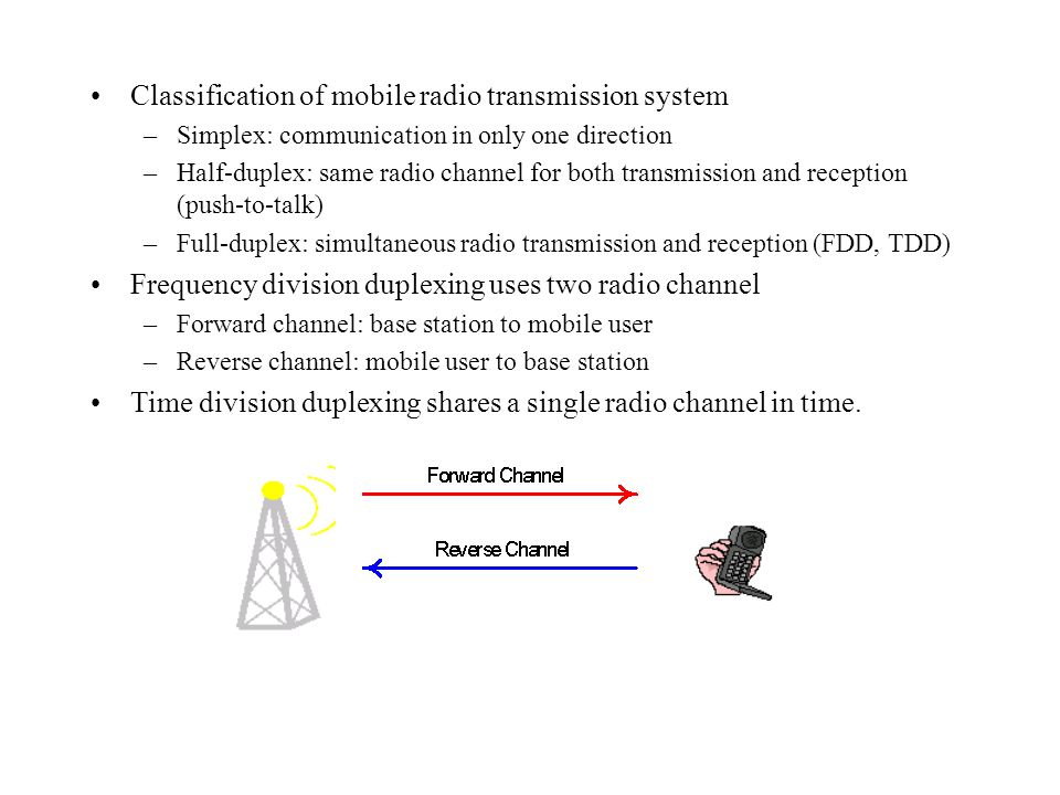 Classification of mobile radio transmission system