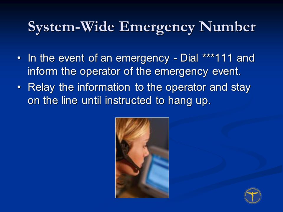 System-Wide Emergency Number